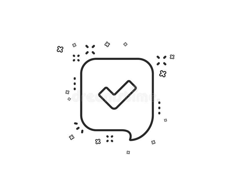 Keur lijnpictogram goed Toegelaten of bevestigd teken Vector vector illustratie