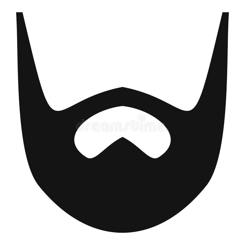 Keurig baardpictogram, eenvoudige stijl stock illustratie