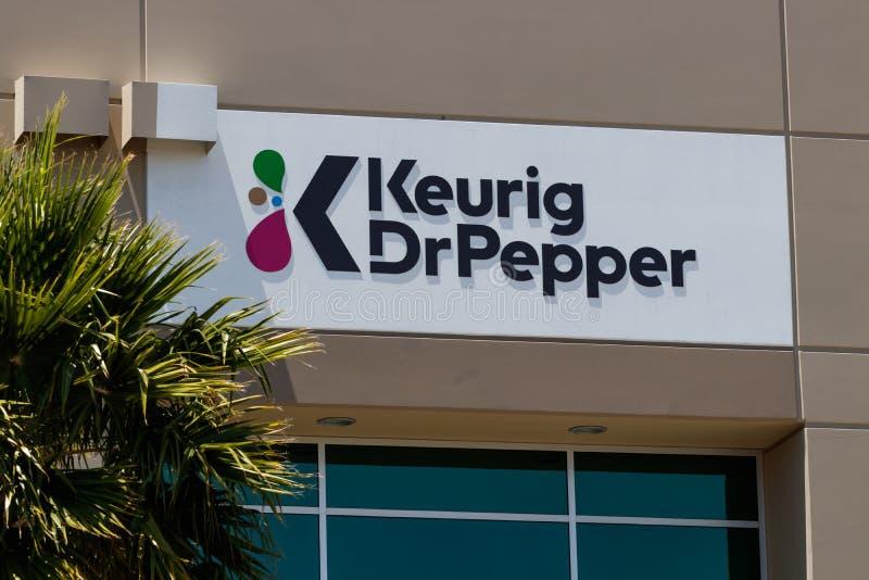 Keurig Pepper博士分配中心,Keurig、Pepper Snapple博士和Bai饮料制造商II 库存照片
