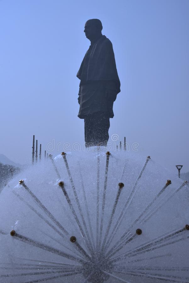 The Statue of Unity The worlds tallest Statue height 182 meter opened recently. stock photos