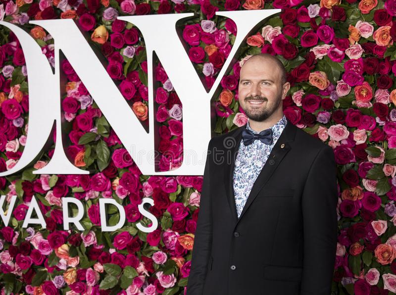 Kevin Adams at the 2018 Tony Awards. Kevin Adams arrives on the red carpet for the 72nd Annual Tony Awards held at Radio City Music Hall in New York City on June stock images