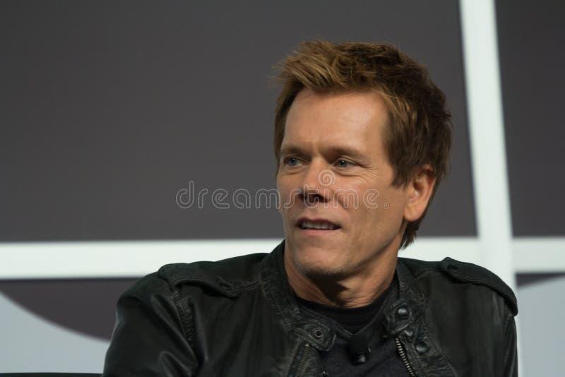 Kevin Bacon på SXSW 2014 royaltyfri foto