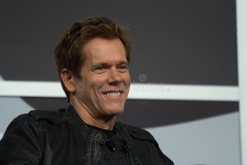 Kevin Bacon på SXSW 2014 royaltyfri fotografi
