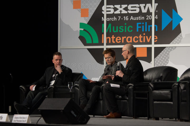 Kevin Bacon på SXSW 2014 arkivfoton
