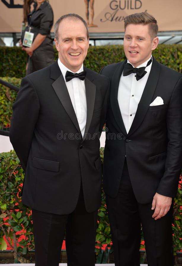 Kevin Doyle y Allen Leech imagen de archivo