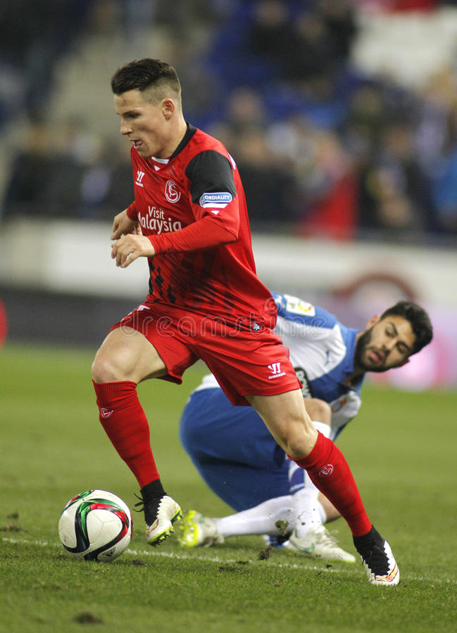 Kevin Gameiro of Sevilla FC stock photography