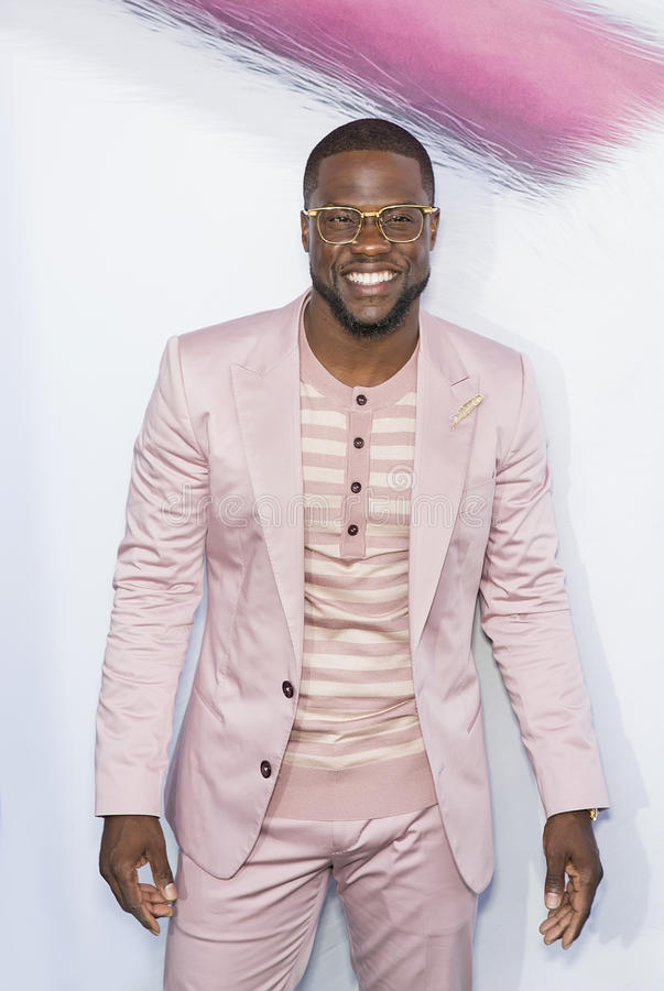 Kevin Hart. Stand-up comedian and comedic actor Kevin Hart arrives on the red carpet for the New York City premiere of the Universal Pictures and Illumination stock photos