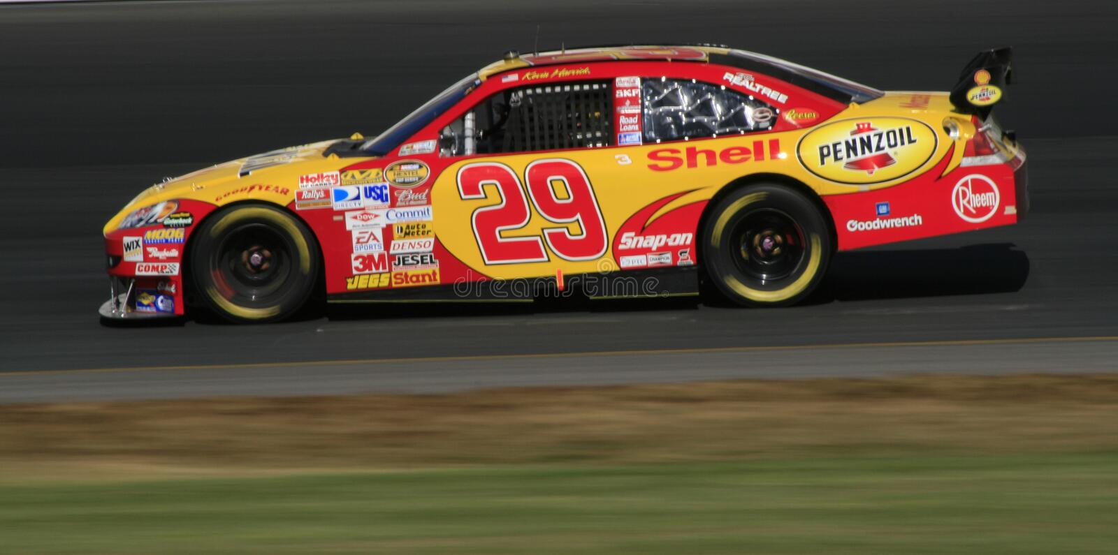 Kevin Harvick dans New Hampshire photographie stock