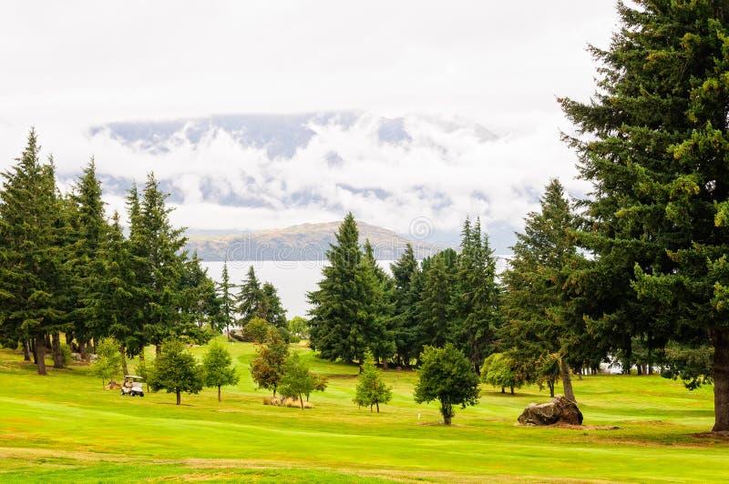 Kevin Heights-Golfplatz - Queenstown lizenzfreies stockfoto