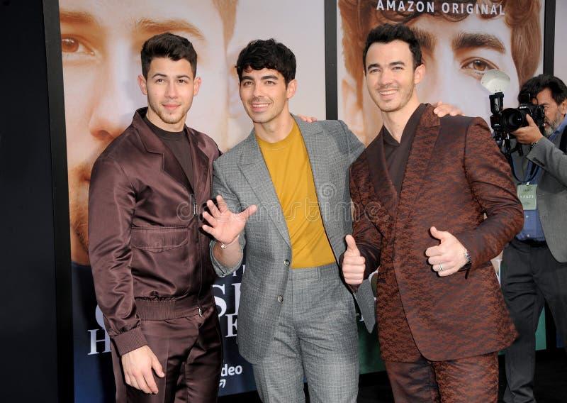 Kevin Jonas, Joe Jonas en Nick Jonas royalty-vrije stock foto