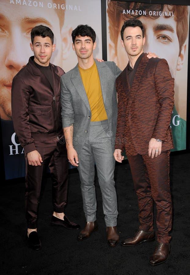 Kevin Jonas, Joe Jonas och Nick Jonas arkivbild