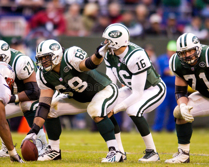 Kevin Mawae, New York Jets fotografia stock libera da diritti