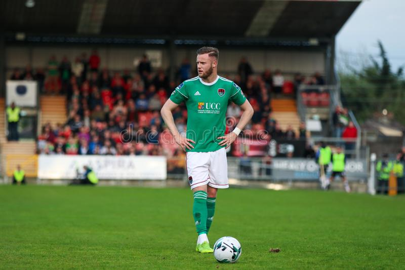 Kevin O`Connor during the Cork City FC vs Dundalk FC match at Turners Cross for the League of Ireland Premier Division. May 17th, 2019, Cork, Ireland - Kevin O` royalty free stock images