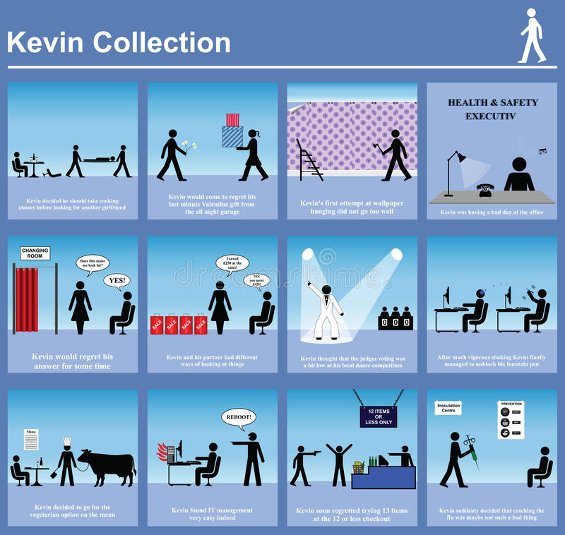Kevin series graphics vector illustration