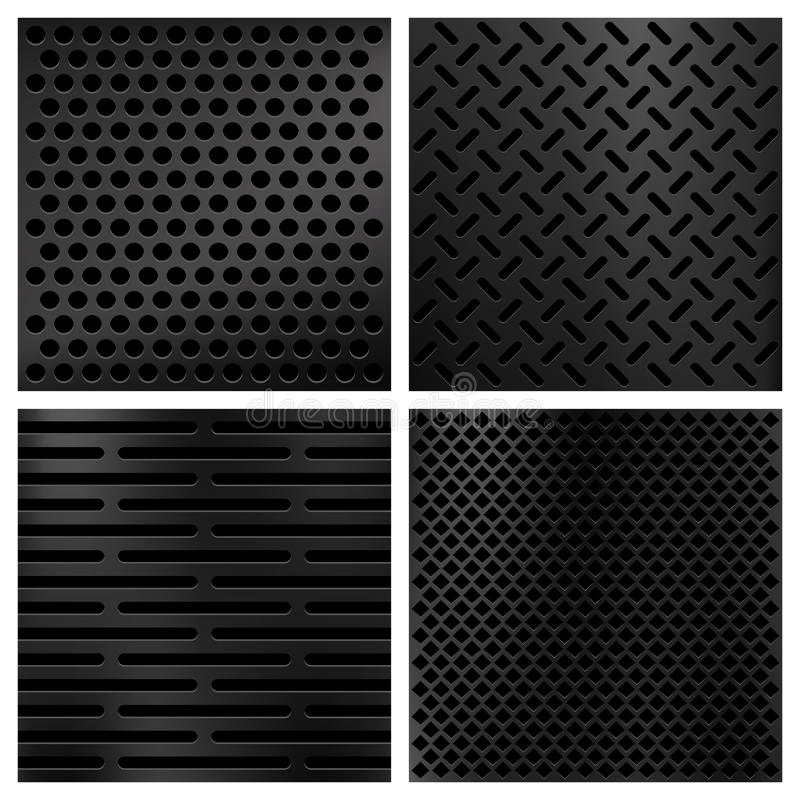 Kevlar włókna węgla wektorowe tekstury ustawiać royalty ilustracja