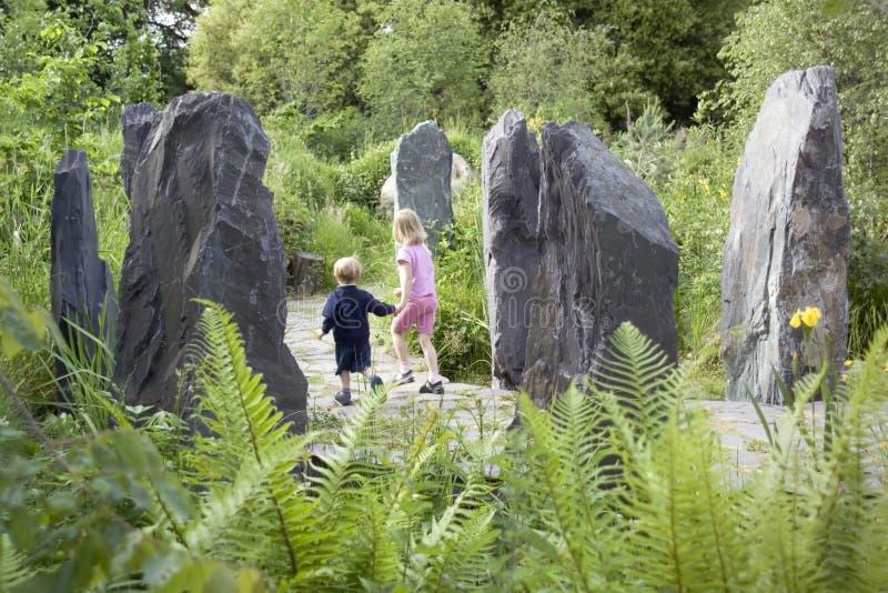 kew садов детей стоковая фотография rf