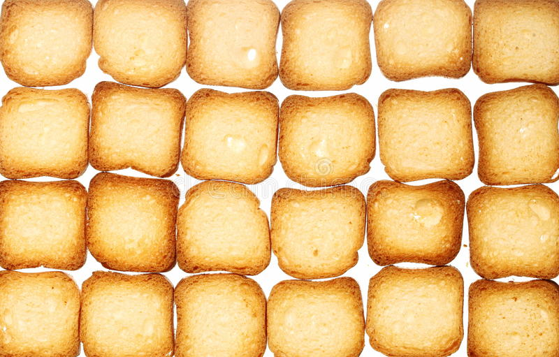 Kex för skorpabrödrostat bröd, bantar matbakgrund royaltyfri foto