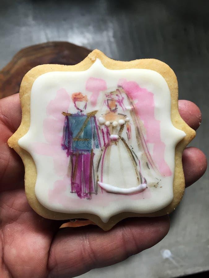 Kex som firar minnet av det kungliga bröllopet royaltyfria bilder