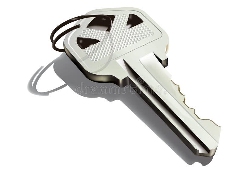 Key. 3D detailed illustration of a door key stock illustration