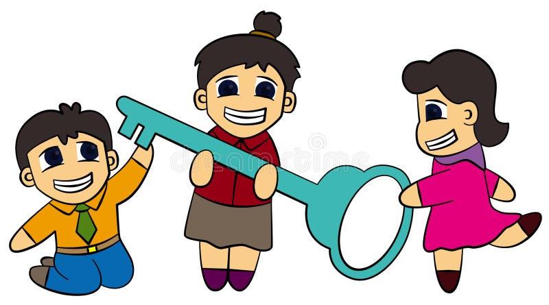 Download Key stock illustration. Image of teamwork, business, motivation - 21812588