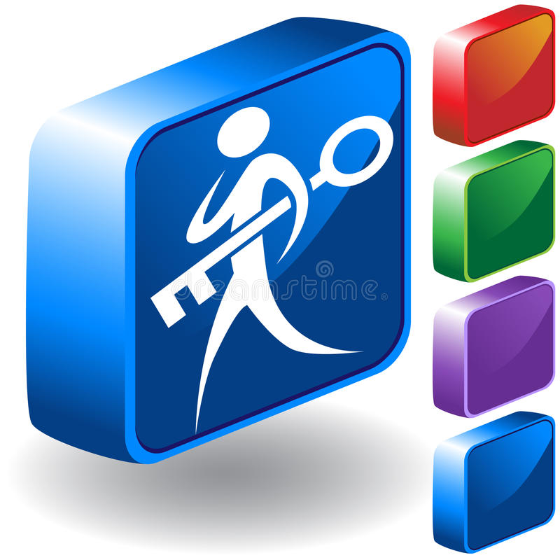Key 3D Icon royalty free illustration