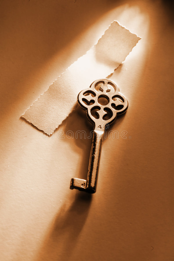 Key. The key to... blank version royalty free stock photos