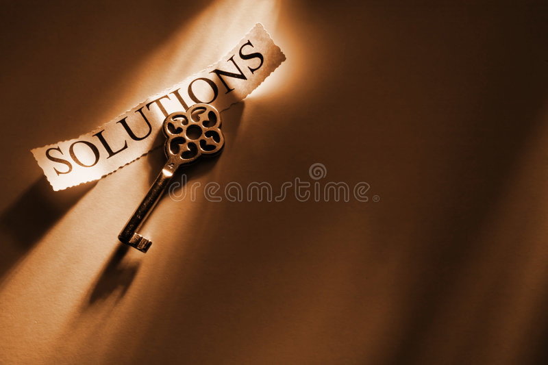 Key. To solutions royalty free stock photos