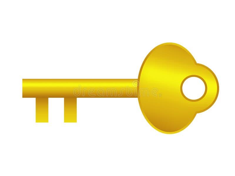Key. The diagram mark of gold key vector illustration