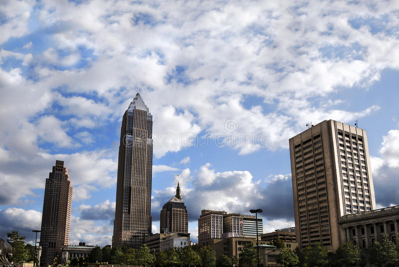 Key Bank Tower in Cleveland royalty free stock photos