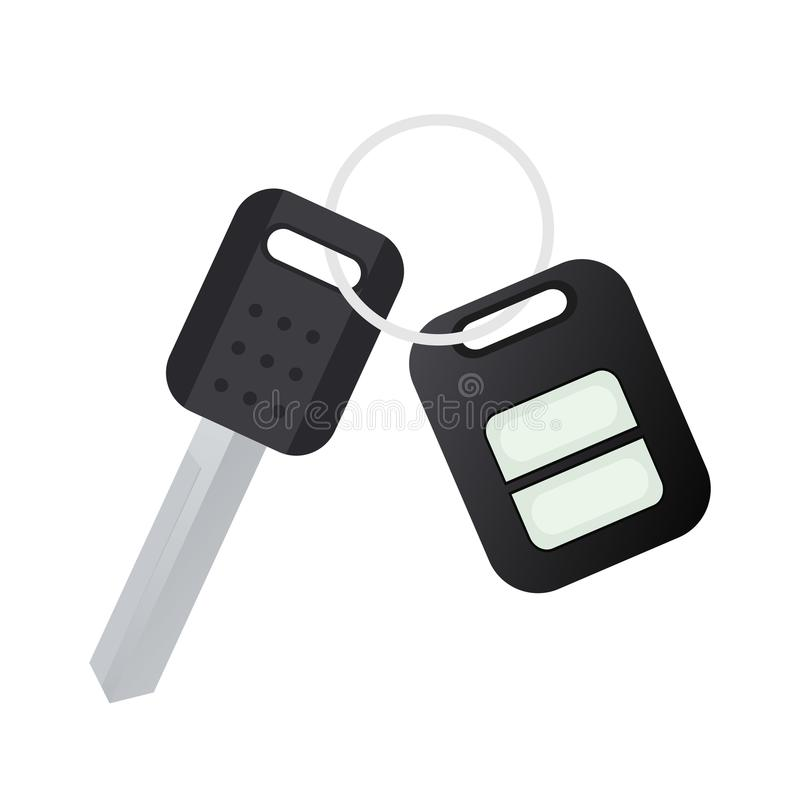 Key Car With Remote. Clipart image isolated on white background vector illustration