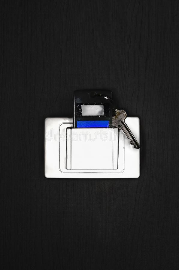 Key card in electronic lock stock photography