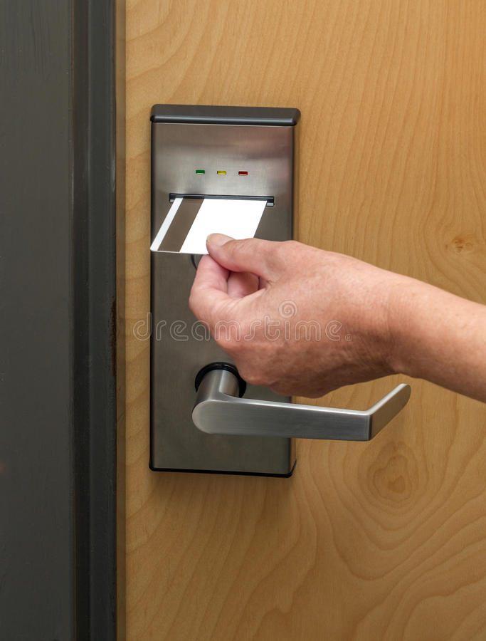 Download Key card entrance stock photo. Image of authority, intruder - 31062178