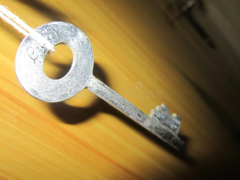 Key chain hannging stock photo