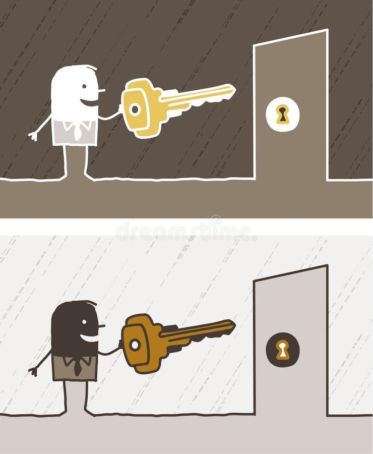Key colored cartoon