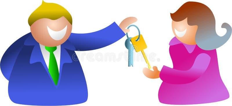 Key couple stock illustration