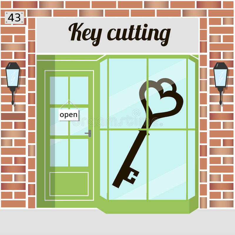 Key cutting vector illustration