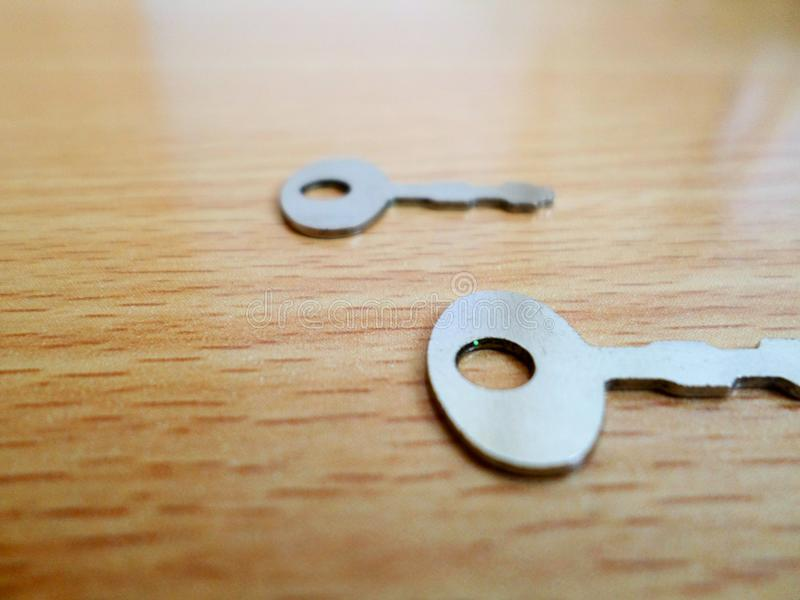 Key. Do not worry. There are several keys to solve your problem stock photography