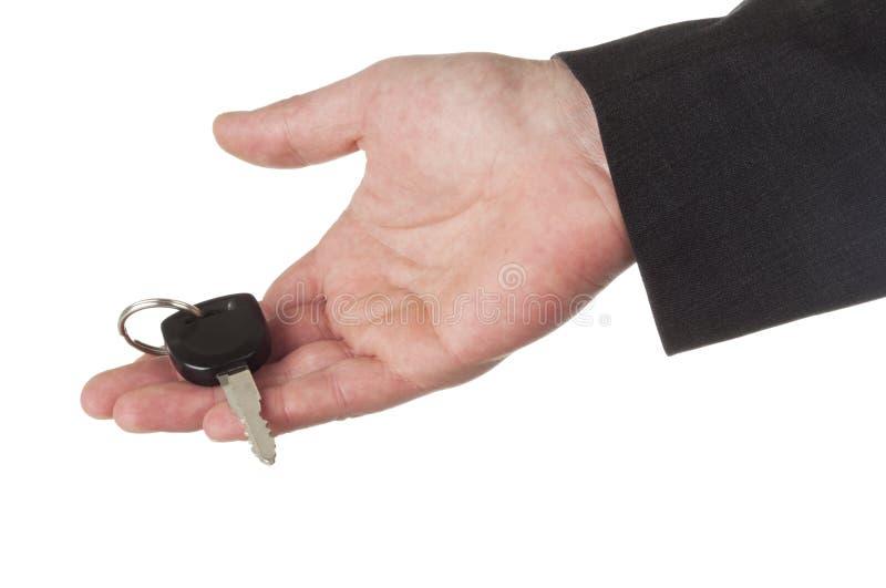 key erbjuda för bilhand royaltyfria bilder