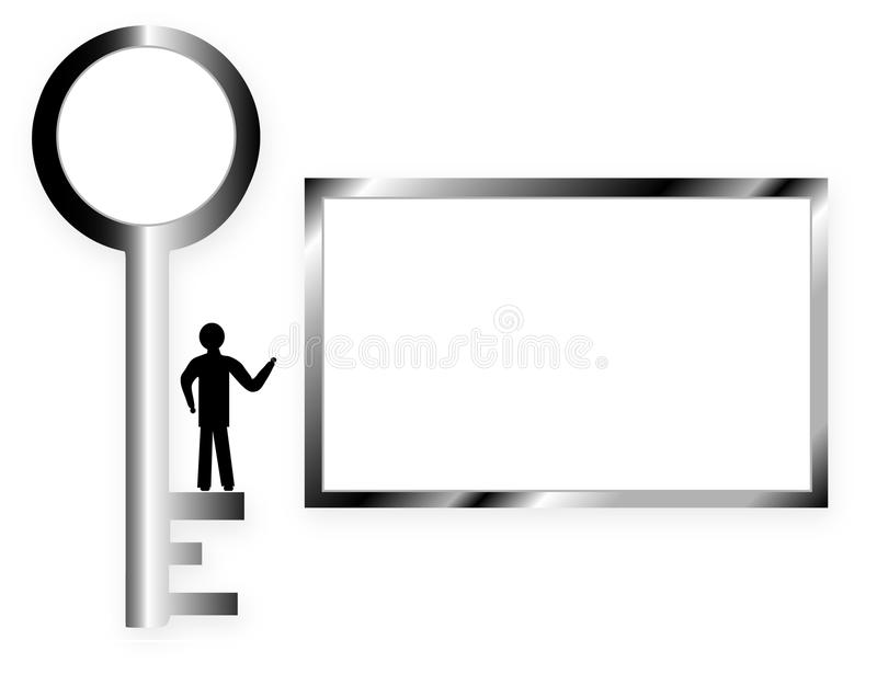 Key and frame for text stock illustration