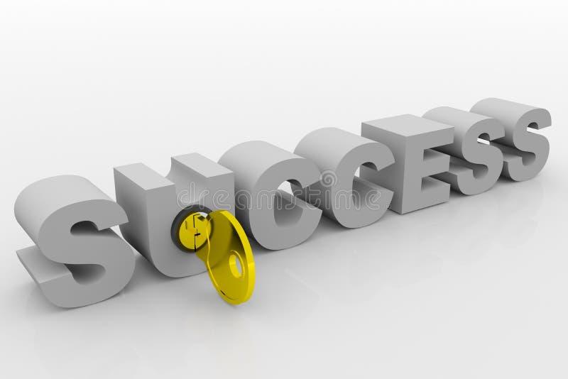 key framgång till stock illustrationer