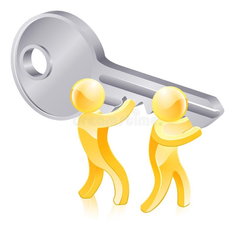 Key gold people vector illustration