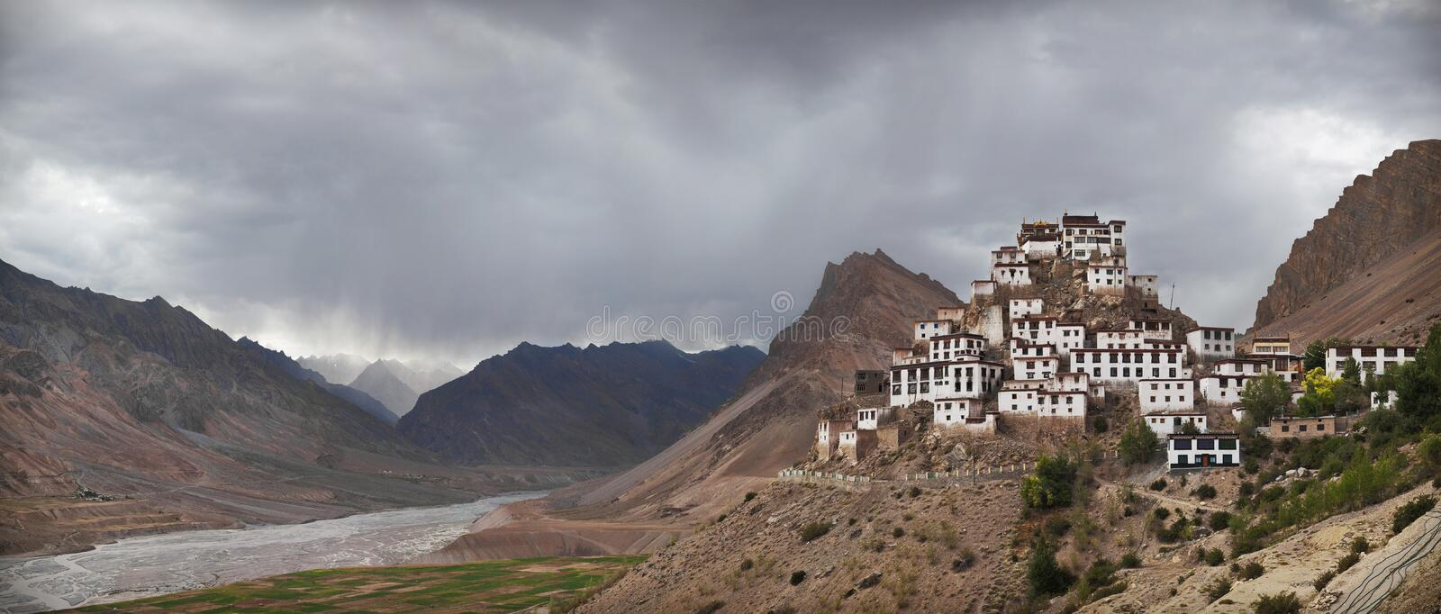 Download Key Gompa arkivfoto. Bild av landmark, buddistiska, lopp - 27284106