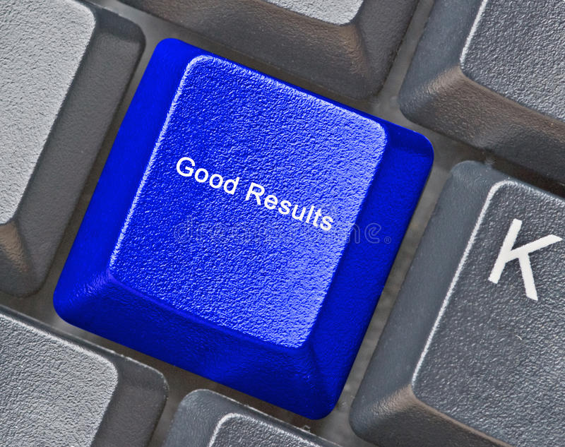 key for good results stock image