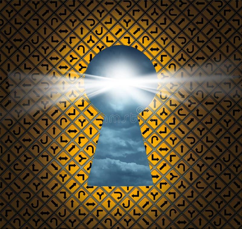 Key hål för riktning royaltyfri illustrationer