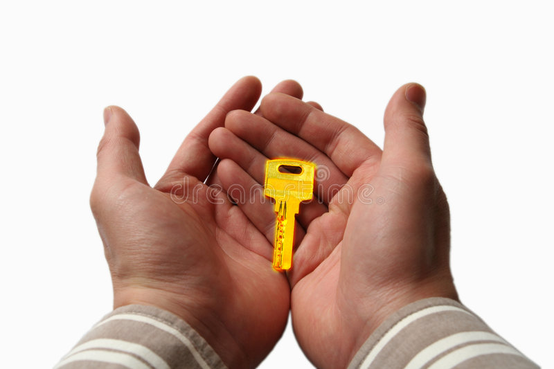 Download Key in hand stock image. Image of idea, corporate, trade - 8378401