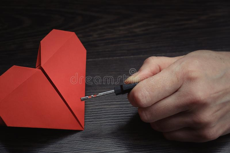 Key In Hand To Heart Symbol Of Love Stock Image Image Of Valentine