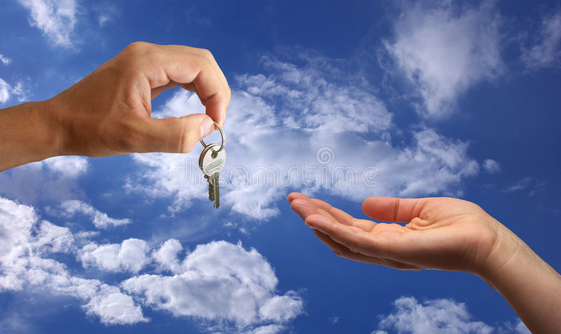 Download Key Handover stock photo. Image of receive, committal - 4213254