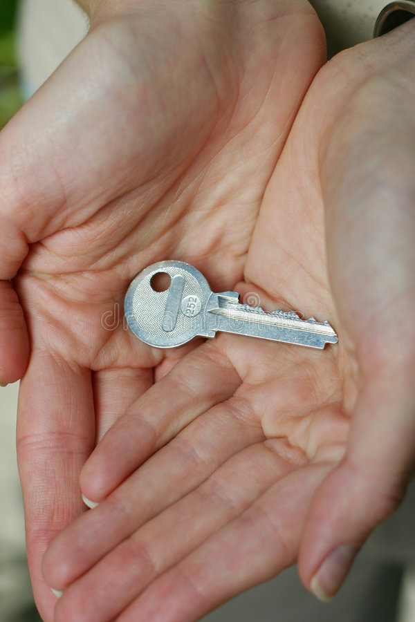 Key in hands stock image