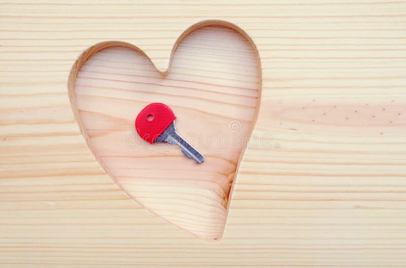 Key For Heart Stock Photos