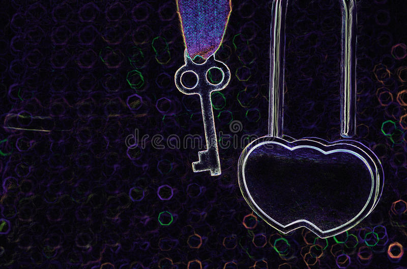 KEY OF HEART royalty free stock images